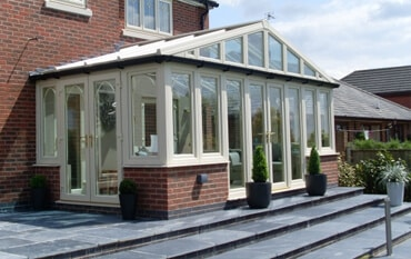 Cream Edwardian Style Conservatory